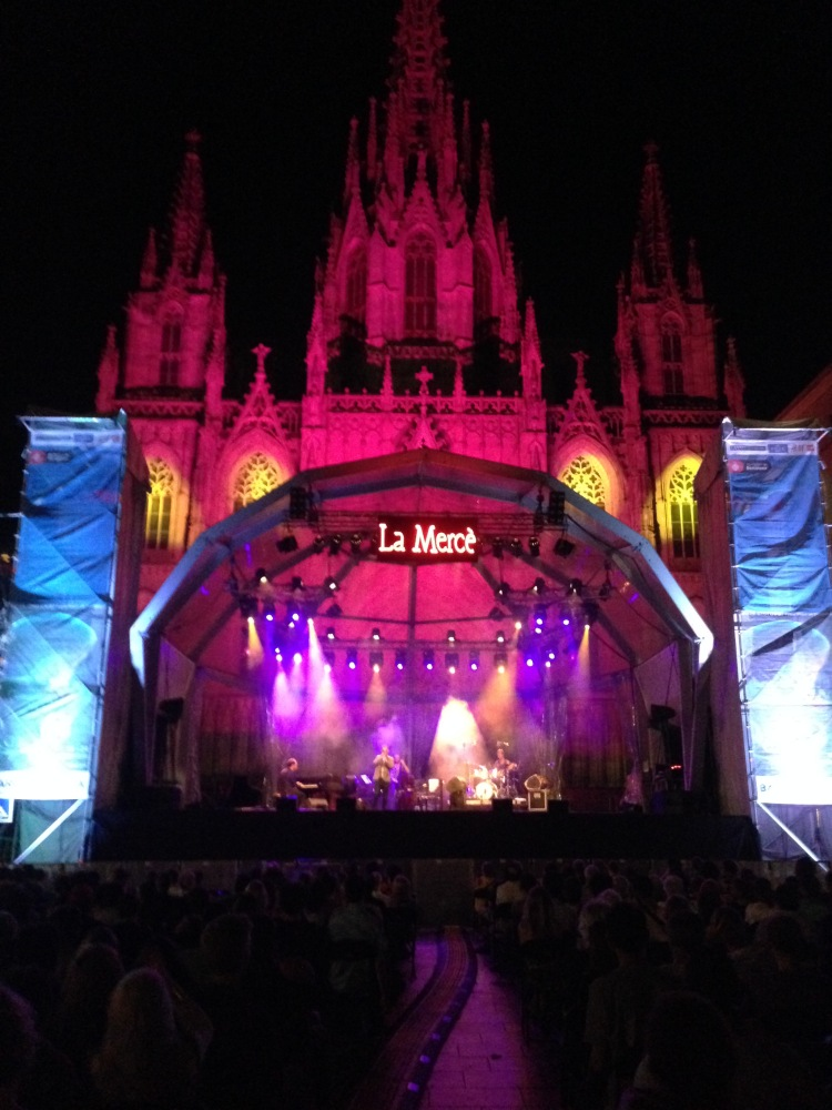 just a stage with a cathedral backdrop, NBD